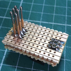 Pogo Pins and Back Header Soldered