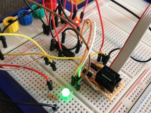 ICSP Breadboard Adaptor In Use