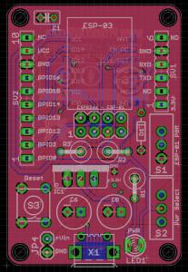 ESP8266 Flash Board v.1.3 Eagle Preview