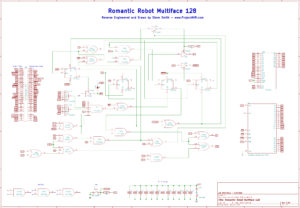 Recreated Multiface 128 v1.00 Schematic