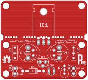 Universal Regulator Board v1.0 Gerblook Front