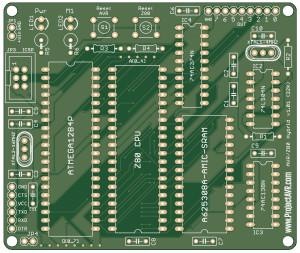 Z80-Arduino Hybrid v1.01 Gerblook.org Front