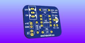 Simple 555 LED Flasher v1.00
